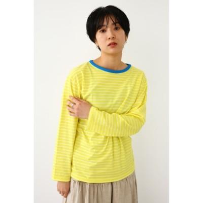 ボーダーボーイズL/S Tシャツ 柄YEL5