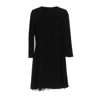 ドルチェ & ガッバーナ DOLCE & GABBANA ミニワンピース&ドレス ブラック 40 レーヨン 51% / アセテート 46% / ポリ