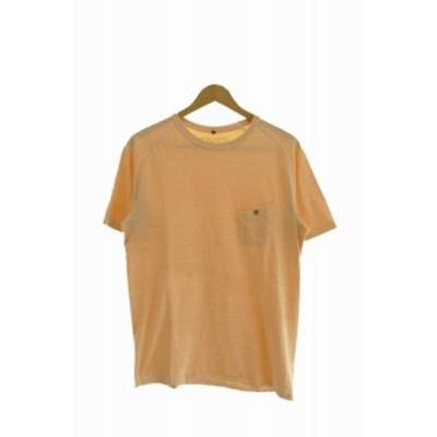 【中古】ナイジェルカーティス Nigel Curtiss GRANDRELLE BASIC T-SHIRT  ポケット Tシャツ 50 オレンジ 200715 0005