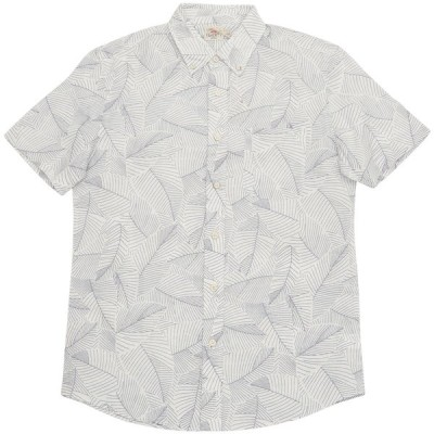 FAHERTY BRAND (ファリティ ブランド) Ivory Leaf リーフプリント 半袖 シャツ ホワイト メンズ