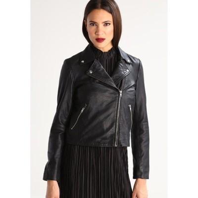セレクテッドフェム ジャケット&ブルゾン レディース アウター SFMARLEN - Leather jacket - black