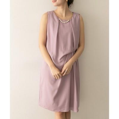 ドレス COUTURE MAISON ネックレスツキアシメタックドレープワンピース