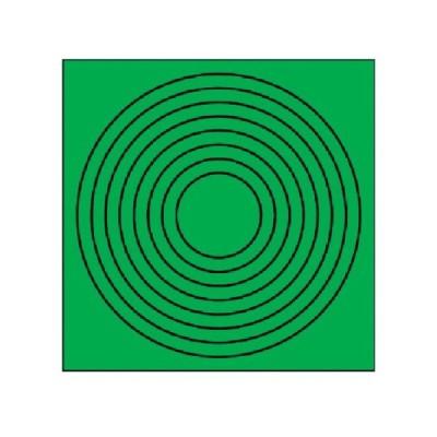 ゲージマーカー円形緑・PPステッカー・10枚組 ユニット 44686-8156