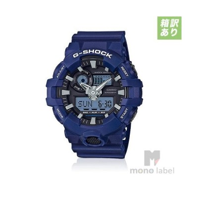 CASIO カシオ 腕時計 G-SHOCK ジーショック STANDARD ANALOG-DIGITAL GA-700-2A ブルー BOX破れ 並行輸入品 BOX訳あり