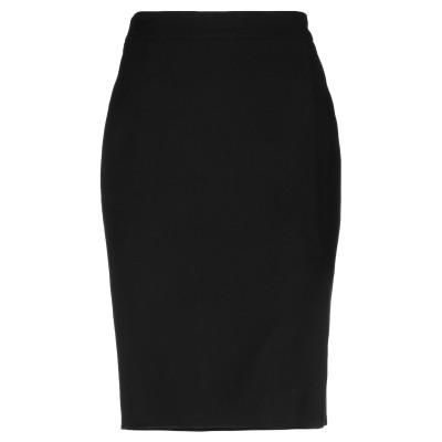TRIXI SCHOBER ひざ丈スカート ブラック 44 レーヨン 97% / ポリウレタン 3% ひざ丈スカート