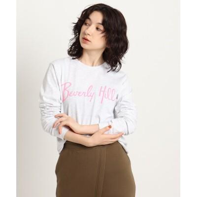 WORLD ONLINE STORE SELECT / 【ウォッシャブル】フロントプリントロングスリーブTシャツ WOMEN トップス > Tシャツ/カットソー