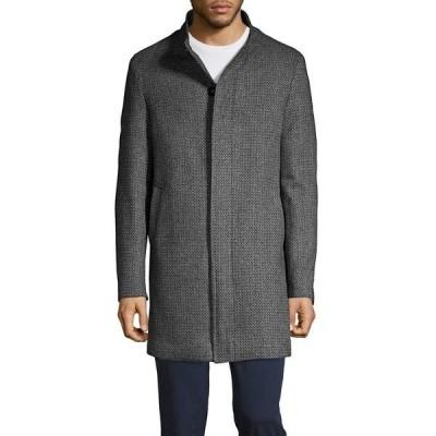 カルバンクライン メンズ ジャケット&ブルゾン アウター Classic Long-Sleeve Coat Black Grey