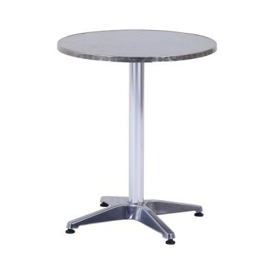 【メーカー直送】 不二貿易 アルミテーブル ラウンドφ60 AC-001 16990 KNS