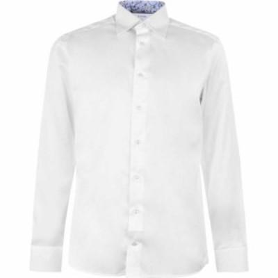イートン Eton メンズ シャツ トップス Floral Tipped Shirt White