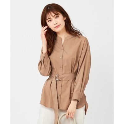 any SiS 【Dカンベルト付き】2WAYシャツ ブラウス (キャメル)