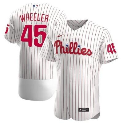 ナイキ メンズ Tシャツ トップス Zack Wheeler Philadelphia Phillies Nike Home 2020 Authentic Player Jersey