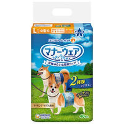 ユニ・チャームマナーウェア 男の子用 Lサイズ 中型犬用 40枚 ユニ・チャーム