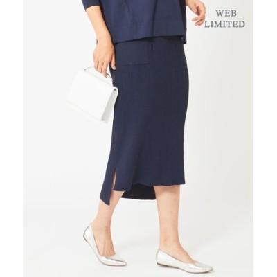 【WEB限定】Cotton Stretch ニットスカート