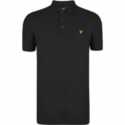 ライル アンド スコット Lyle and Scott メンズ ポロシャツ 半袖 トップス Short Sleeve Polo True Black
