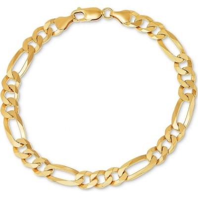メイシーズ Macy's メンズ ブレスレット ジュエリー・アクセサリー Figaro Link Bracelet Gold Over Silver