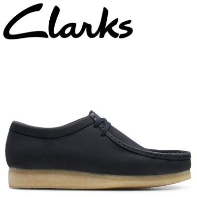 クラークス Clarks ワラビーブーツ メンズ WALLABEE ダーク ネイビー 26147299