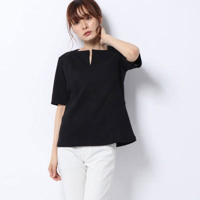 リネーム Rename 切替半袖カットソー (ブラック)
