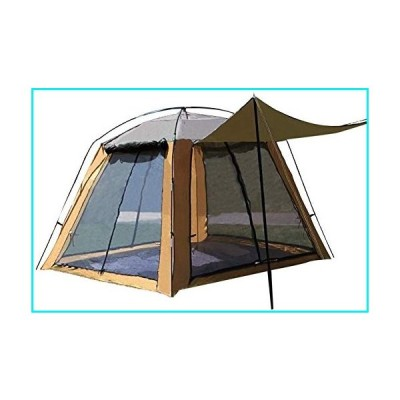 YYDD Outdoor Tent Camping Gauze Net Breathable Sunscreen Four-Sided Door Window Breathable Anti-Mosquito 3 to 4 People Fishing Tent【並行輸入品