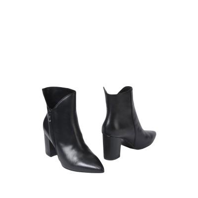 ACCADEMIA ショートブーツ ブラック 40 牛革(カーフ) 100% ショートブーツ