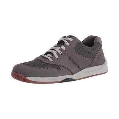 Clarks Men's Langton Race Sneaker, Grey Nubuck, 9.5