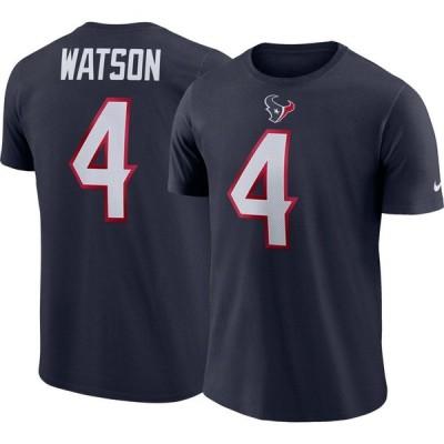 ナイキ Nike メンズ Tシャツ トップス Deshaun Watson #4 Houston Texans Pride Navy T-Shirt