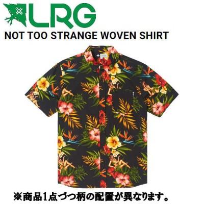 エルアールジー LRG NOT TOO STRANGE WOVEN SHIRT メンズ シャツ 半袖 ボタンダウン ライトウェイトコットン トップス M/L ブラック