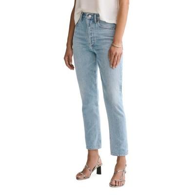 アゴルド レディース デニムパンツ ボトムス Riley High-Rise Straight Crop Jeans