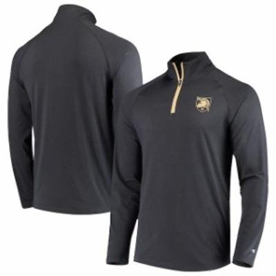 Champion チャンピオン スポーツ用品  Champion Army Black Knights Black Athletic Quarter-Zip Raglan Jacket