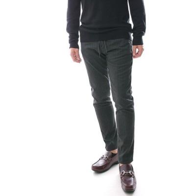 イージーパンツ スラックス スリム テーパード ピンストライプ カジュアルパンツ 黒 メンズ 大きいサイズも入荷 30〜38インチ