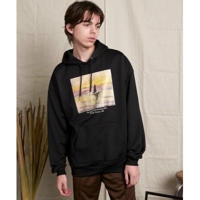 EMMA CLOTHES / ART×EMMA CLOTHES別注 アート転写プリントビックシルエットプルオーバーパーカー MEN トップス > パーカー