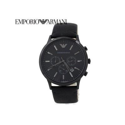 EMPORIO ARMANI エンポリオ アルマーニ AR2461 スポーティボコレクション メンズ 腕時計 クロノグラフ レザー ブラック