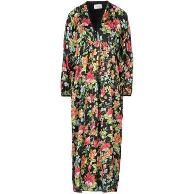 VICOLO 7分丈ワンピース・ドレス ブラック S ポリステロール 100% 7分丈ワンピース・ドレス