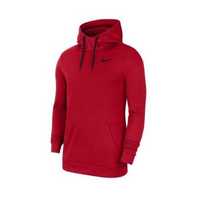 (取寄)ナイキ パーカー メンズ サーマ フリース フーディ Nike Men's Therma Fleece Hoodie University Red Black 送料無料