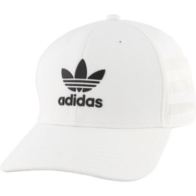 アディダス 帽子 アクセサリー メンズ adidas Originals Men's Beacon II Precurve Snapback Hat White