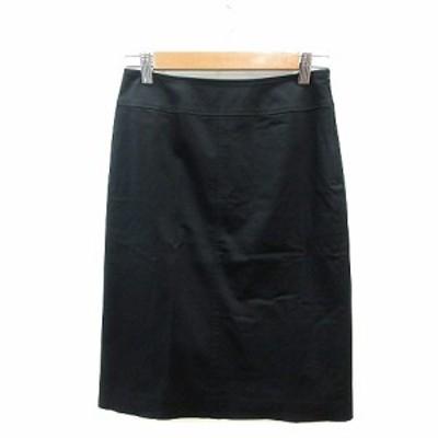 【中古】ノーリーズ Nolley's Light タイトスカート ひざ丈 38 黒 ブラック /ST レディース