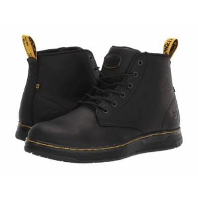 ドクターマーチン メンズ ブーツ・レインブーツ シューズ Ledger Steel Toe SD Black/Black/Bla