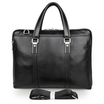 ブリーフケース メンズ 本革 通勤鞄 手提げ鞄 レザー ビジネスバッグ レザー ブラック ショルダーバッグ 14インチPC収納 紳士用 トートバッグ