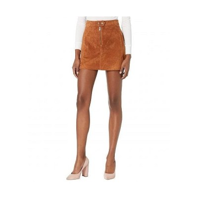 Blank NYC ブランクエヌワイシー レディース 女性用 ファッション スカート Real Suede Miniskirt with Zipper Front Detail - Sweater Weather
