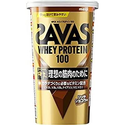 明治 ザバス(SAVAS) ホエイプロテイン100 リッチショコラ味14食分 294g