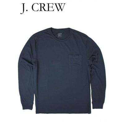 ジェイクルー Tシャツ 長袖 ポケット付き ロングスリーブ J.CREW ネイビー