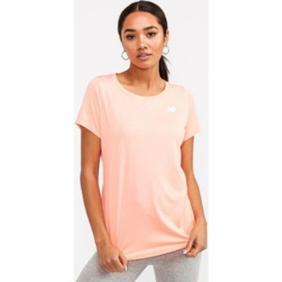 ニューバランス New Balance レディース Tシャツ トップス Accelerate Short Sleeved T-Shirt Peach Orange