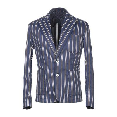 NEILL KATTER テーラードジャケット ダークブルー 50 コットン 97% / ポリウレタン 3% テーラードジャケット