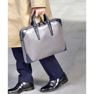 フジタカ レザービジネスバッグ A4薄マチ ジェードレザーII No.616502 グレー