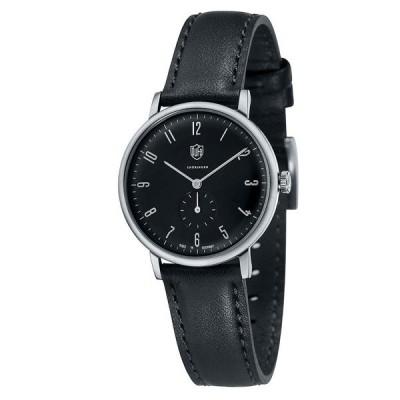 ドゥッファ ドイツ時計 レディース GROPIUS スモールセコンド 32mm シルバーケース ブラック レザー DF-7001-01 あすつく 腕時計