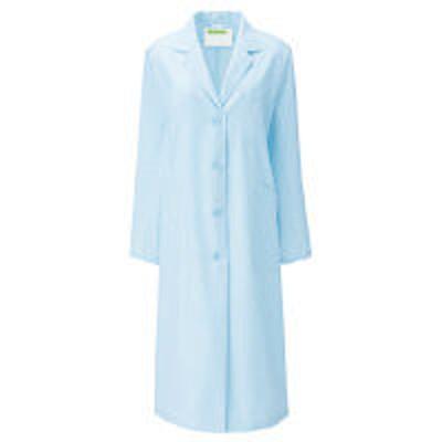 KAZENKAZEN レディス診察衣S型長袖(ドクターコート) 医療白衣 サックスブルー(水色) シングル 3L 260-91(直送品)
