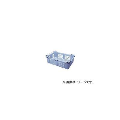 積水 BK型コンテナ(バスケット型)(ハンドル付) 青 BK-40H B(4983343)