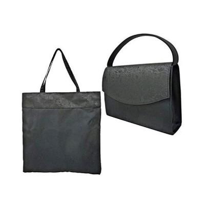 優美社産業 Feteコレクション フォーマルバッグ 2WAY 2点セット(バッグ・手提げ袋) 8185 ブラック