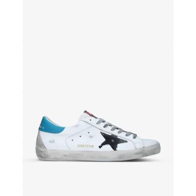 ゴールデン グース GOLDEN GOOSE メンズ スニーカー ローカット シューズ・靴 Superstar distressed leather low-top trainers WHITE/BLK