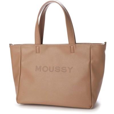 マウジー moussy LOGO PUNCHING BASIC NEW TOTE M M01-1-00086 (ベージュ)
