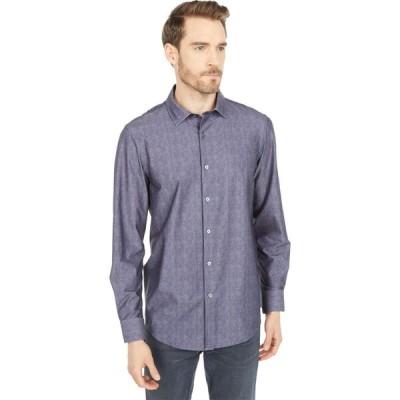 ブガッチ BUGATCHI メンズ シャツ トップス Luca Long Sleeve Ooohcotton Tech Shirt Point Collar Charcoal